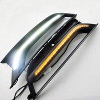 2 Unids/lote Nueva Styling Car Luz Corriente Diurna Para VW Passat DRL 2012-2015 Passat B7 LED DRL LED Luz de Niebla del Frente lámpara