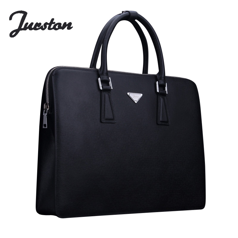 Wire man bag male cowhide handbag laptop bag casual commercial document portable laptop bag