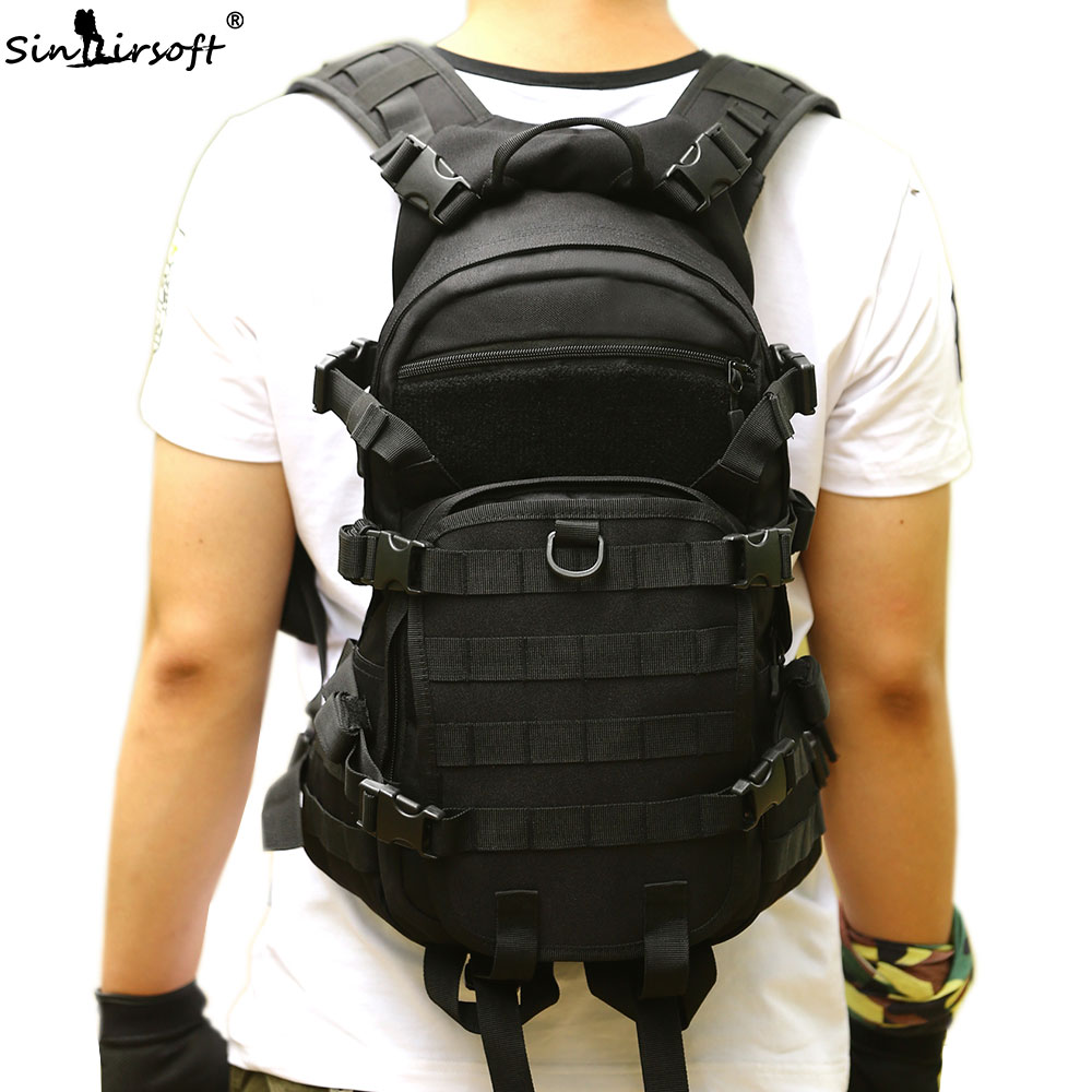 SINAIRSOFT Outdoor Sport Bags Military Backpack Trekking School Bag Travel 25L Nylon Camouflage Camping Hiking Hunting LY0062