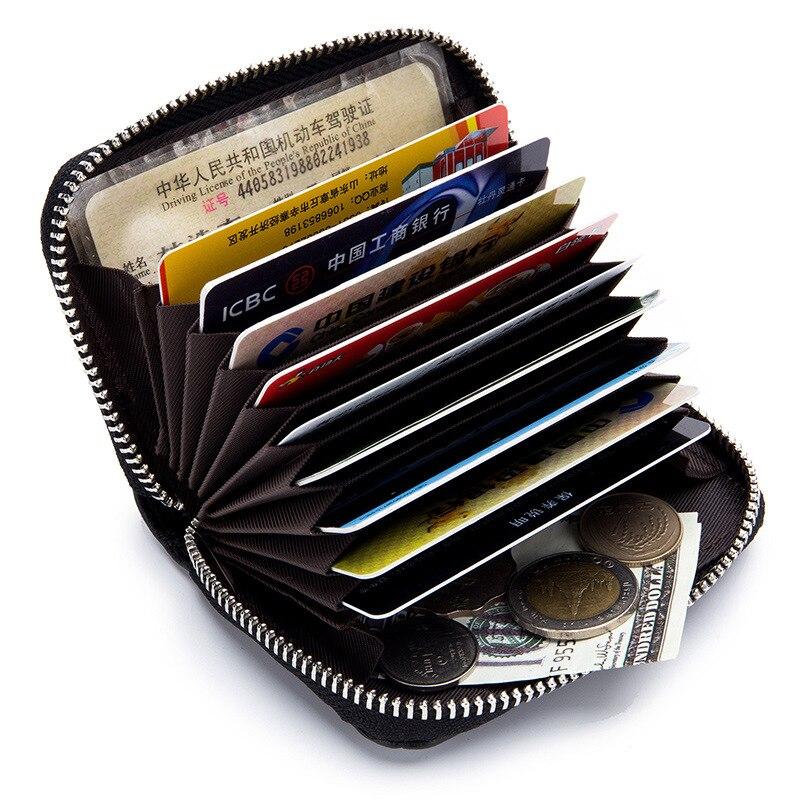 Andralyn Мода из натуральной овечьей кожи держатель для карт кошелек Для женщин карты пакет из натуральной кожи на молнии кредитные карточки ко...