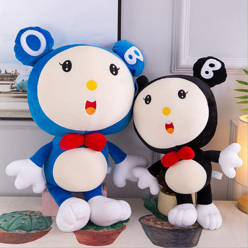 New Creative Cute Mouse Short Plush Toys PP Cotton Stuffed Animal Doll Toy Children Birthday Gifts