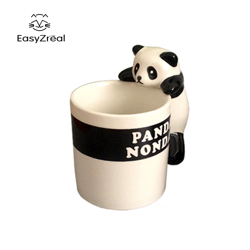 EasyZreal Cute Cartoon 3D Panda Mug Animal Ceramic Mug Milk Nonda Coffee Tazza Tea Taza Copo Home Office Drinkware Gifts Tasse
