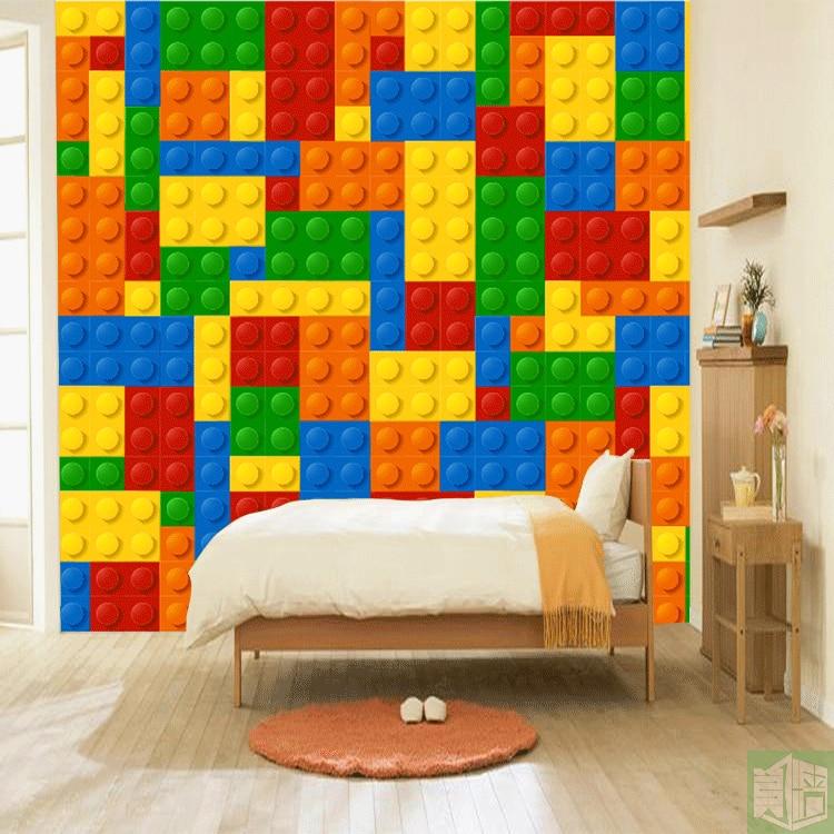 3D Lego Bricks Wallpaper Children's Playground Wall Murals