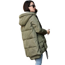 Бесплатная Доставка 2016 Новый Aarrivals Модное Женщины куртка С Капюшоном Долго Стиль Теплое Зимнее Пальто Женщин Плюс Размер M ~ XXXL
