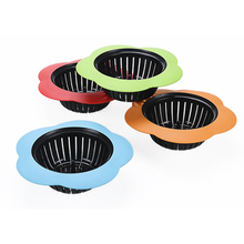 1PCS Plum-type Silicone Sink Strainer Bathroom Shower Floor Drain Drains Cover sink colander Sewer Hair Filter 70