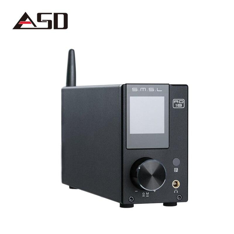 SMSL AD18 80 W * 2 CSR A64215 DSP Bluetooth HIFI Puro Amplificatore Audio Digitale Ottico/Coassiale USB DAC Decoder Con Telecomando