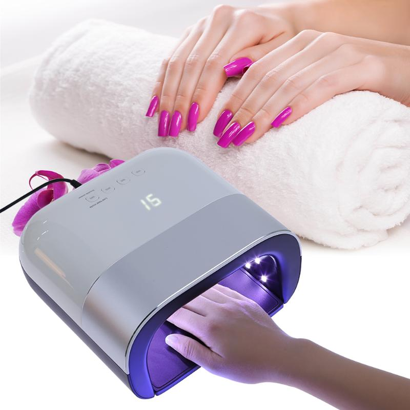 Smart Nail Dryer 48W UV LED Lamp Nail with Smart Timer Memory Invisible Digital Timer Display Nail Drying Machine dc 12v led display digital delay timer control switch module plc automation new