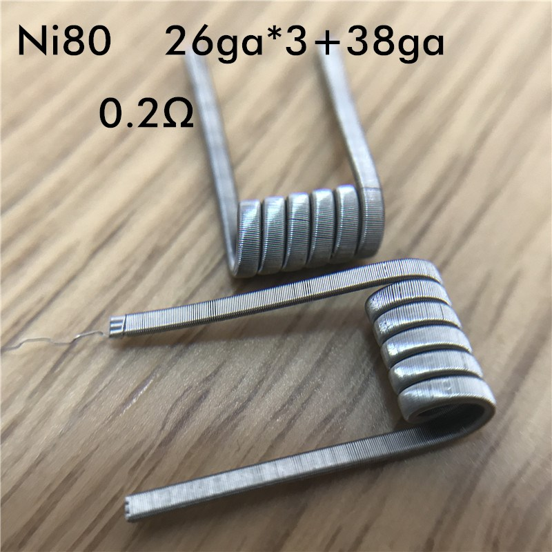10pcs/lot Prebuilt Coils High Density Ni80 SS316L KA1 Framed Staple Fused Clapton Coil for Electronic Cigarette RDA RTA Atomizer demon killer violence coil 7 in 1 coil prebuilt coils alien v2 tsuka coil clapception framed clapton for rda rba atomizer tank