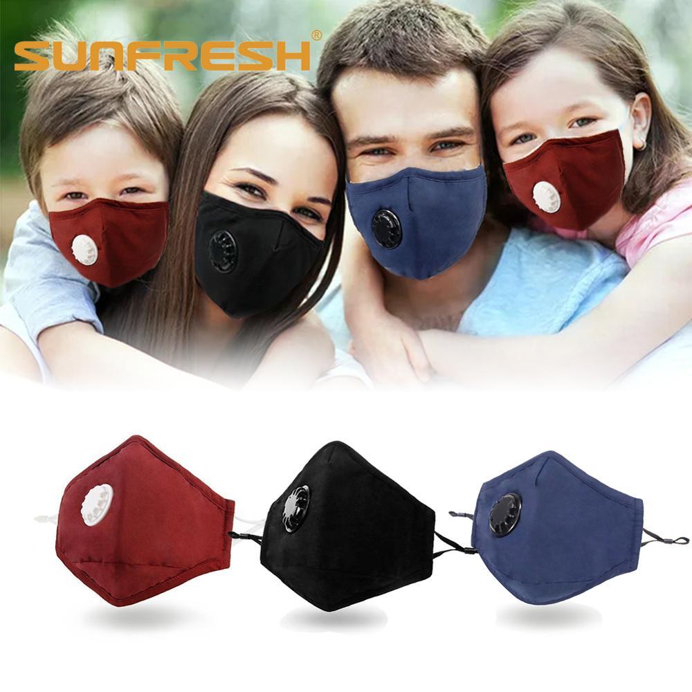 Face Carbon Mask Anti-dust Mouth Cotton Valve Breath 5 Anti Kpop Anime Masks Dust Haze Pm2 Black