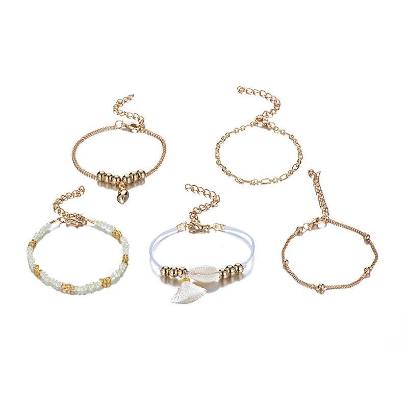 aiboduo Hot Sale Natural Seashell Bracelet Women Classic Shells Charm Bracelets Women Accessories Beaded Strand Bracelet 31B0003 in Charm Bracelets from Jewelry Accessories