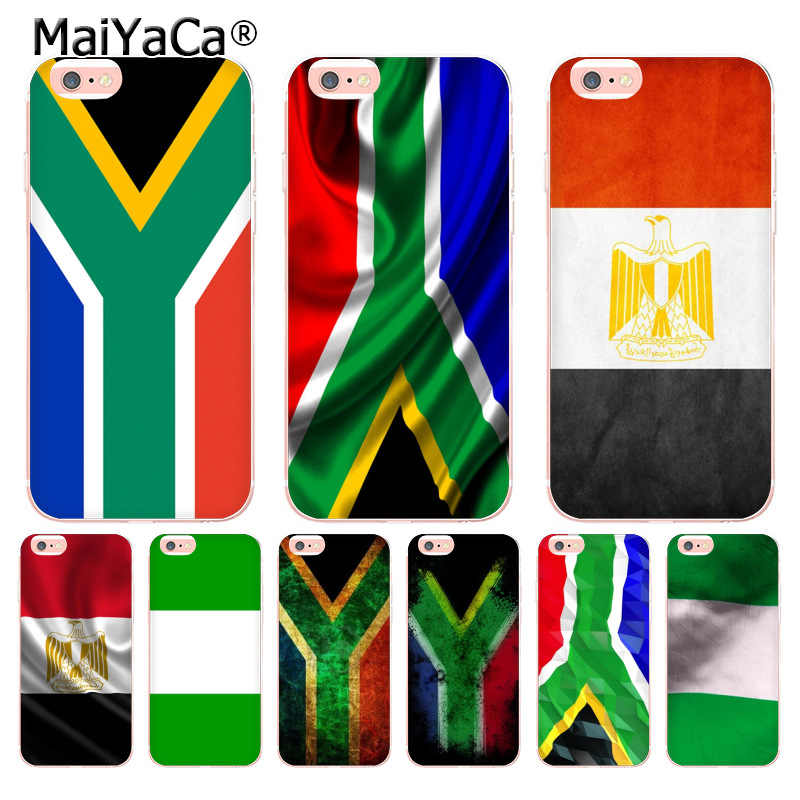 MaiYaCa Egypte Zuid-afrika Nigeria Vlag Coque Shell Telefoon Case voor iphone 11 Pro 8 7 6 6S Plus X 5 XS XR XSMAX