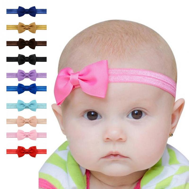 baby girls hair band headband solid