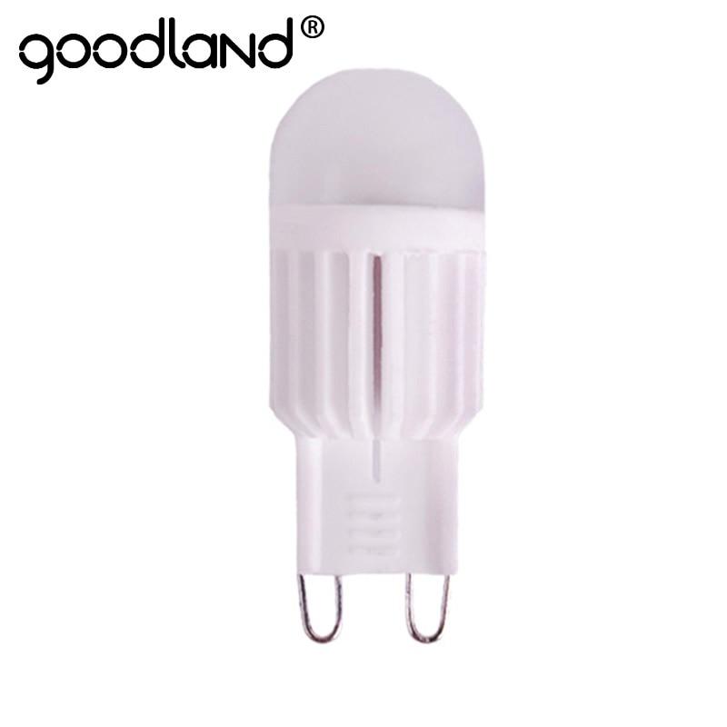 Goodland G9 lampe à LED 220 V 5 W 7 W lumière LED en céramique haute puissance cristal lustre lumières 360 degrés éclairage LED ampoule G9