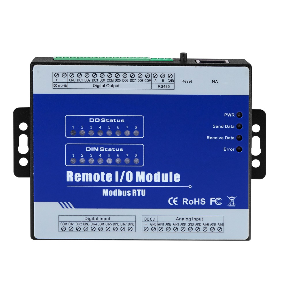 BEST DISCOUNT) Modbus RTU Remote IO Module 4 Digital Inputs 4