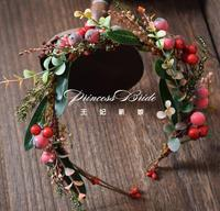 Halloween Fashion blue headdress bride hair accessories catwalk stage personality creative Christmas branch crown headwear