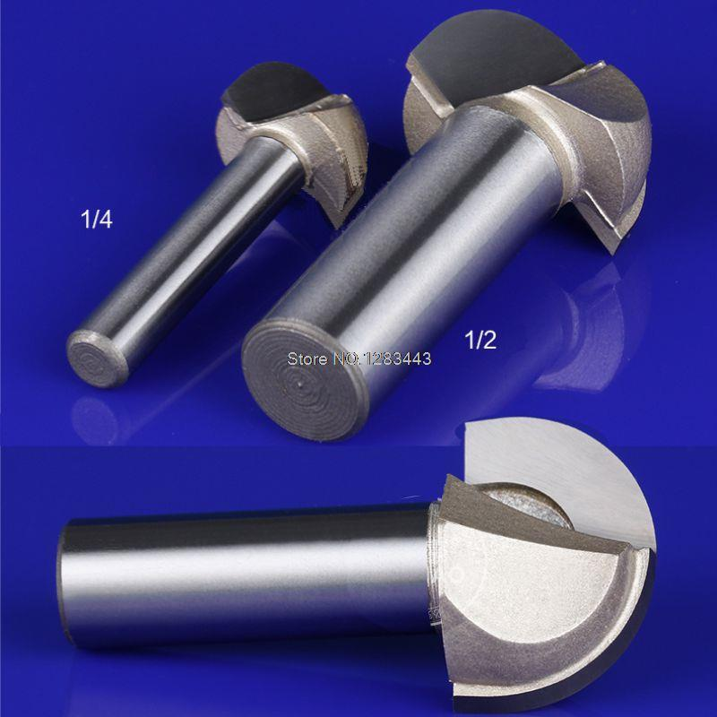 1/4*1/4 HSS Milling Bits Shank Round Nose Cove Core Box Router Bit Shaker Cutter Tools For Woodworking 2868  цены