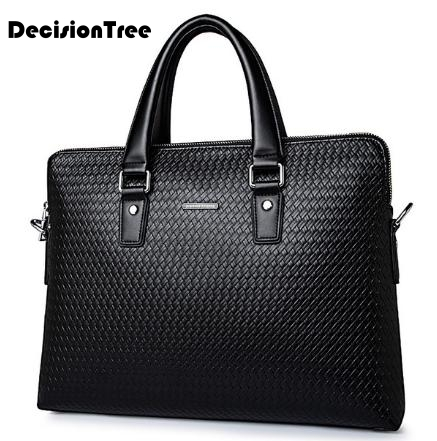 Natural Cowskin 100% Genuine Leather Large Capacity Men Bags Casual Briefcases Office Bags For Men Travel Shoulder Bags LFB46