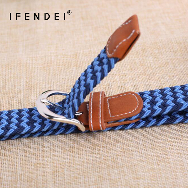 1bbd2be903a IFENDEI Belts Unisex For Student Wild Patchwork Belt Elastic Girls and Boys  Children Multi-color Pin Buckle Strap For Jeans