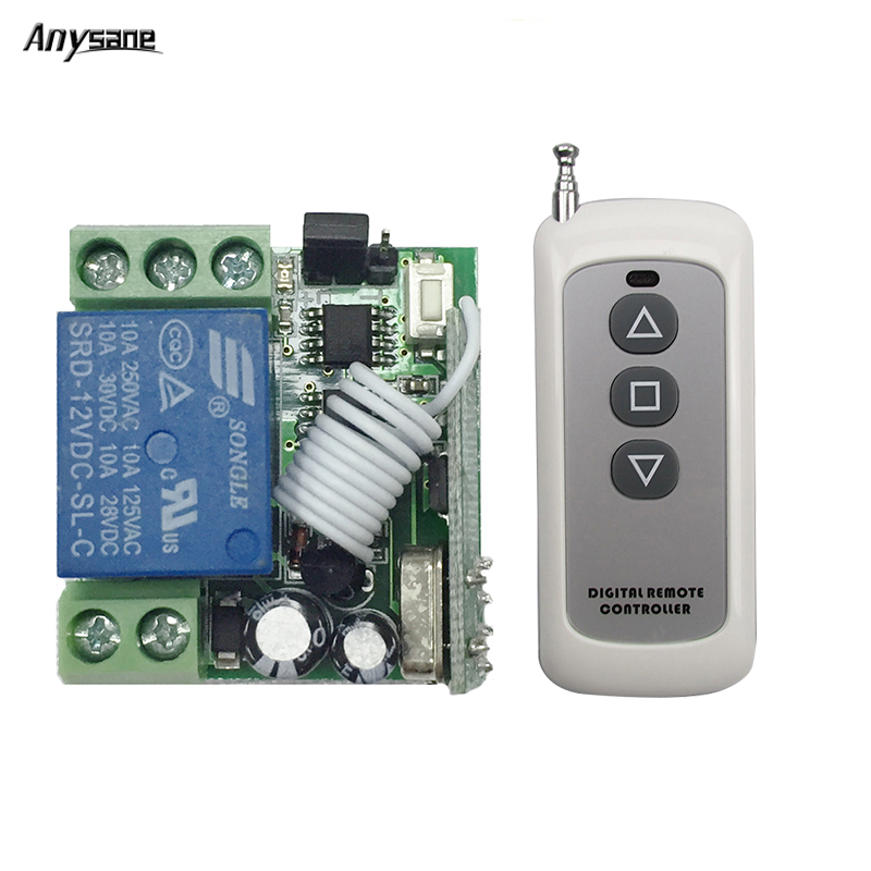 Universal remote control controller switch 433mhz rf remote relay DC 12V control remoto learning smart remote wireless control