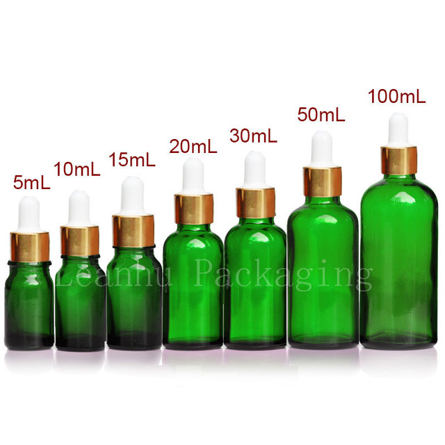 a75fb809d46a US $16.06 5% OFF|Empty Green Essential Oil Glass Dropper Bottle Pipette  Glass Container For Essential Oil,Perfumes ,Glass Vial , Perfume Bottles-in  ...