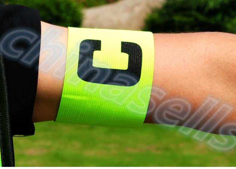 50pcs Football Soccer Flexible Sports Adjustable Player Bands Fluorescent Captain Armband Hockey Rugby Skippers Armbands in Soccers from Sports Entertainment