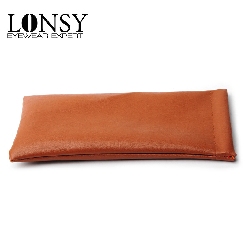 LONSY 10Pcs/Lot  2017 High Quality Fashion Brand Brown PU Sunglasses Pouch Soft Eyeglasses Bag Glasses Case Eyewear Accessories