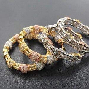 Image 5 - Longika mode bijoux luxe exagéré classique grandes boucles doreille lourdes Micro plaqué boucles doreilles de mariage nuptiale quotidien meilleur cadeau