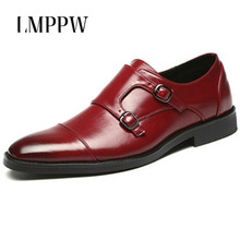 Italian Fashion Mens Bullock Buckle Wedding Party Casual Business Dress Brogue Shoes Brand Men Leather Zapatos Hombre