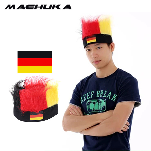 8dccab8373a MACHUKA football world cup 2018 Russia Germany Fan Headwear with National  Flag Wig Soccer ball headband world cup kids hats