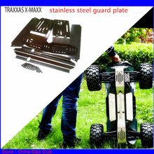 1/5 RC CAR TRAXXAS X MAXX Upgrade Spare Parts Stainless Steel Guard Chassis Protection Plate Armor Protection Crash 6S & 8S