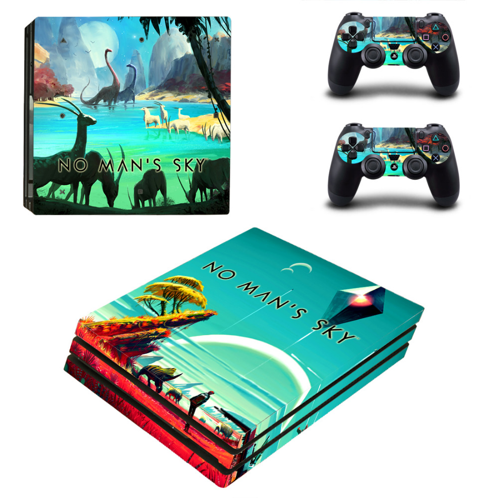 No Mans Sky PS4 Pro Skin Sticker Decal for Sony PlayStation 4 Console and 2 Controller PS4 Pro Skin Sticker Vinyl