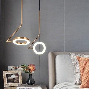 Nordic Minimalist Lustre Pendant Lights Lamp Lustre Led Modern Creative Hanging Lamp LED Bedroom Bedside Designer Fixtures