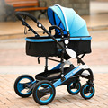 The new high landscape baby stroller can sit and lie foldable baby strollers quality stroller car shock