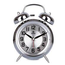 Classic Metal Frame Alarm Clock Needle Snooze Movement Alarm Clocks Double Bell Mechanical Bells Night Light Despertador Wekker 4 5 inch double bell alarm clocks metal silent sweep loud alarm kids table clock 4 5 inch bell night light large number alarm cloc