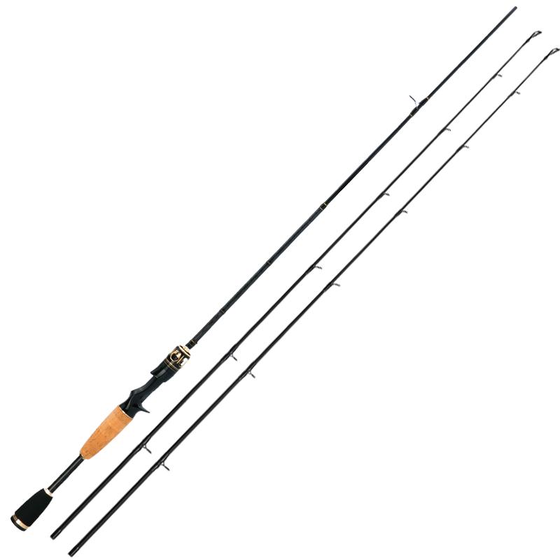 Cemreo canne à pêche 2 sections coulée et filature canne à pêche 1.8 2.1 2.4 m carbone L/UL/M/MH matériel de pêche