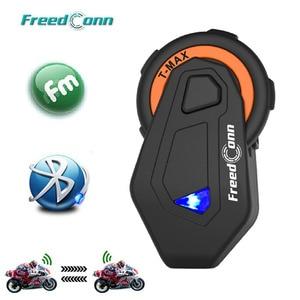 Image 1 - T Max Motorcycle Group Talk System 1000M 6 Riders BT Interphone Bluetooth Helmet Intercom Headset Bluetooth 4.1 + FM Radio