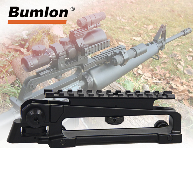 AR15 Metal Detachable Black Carry Handle Dual Apertures A2 Rear Sight and Picatinny Rail Combo Mount For M4 M16 hunting parts(China)