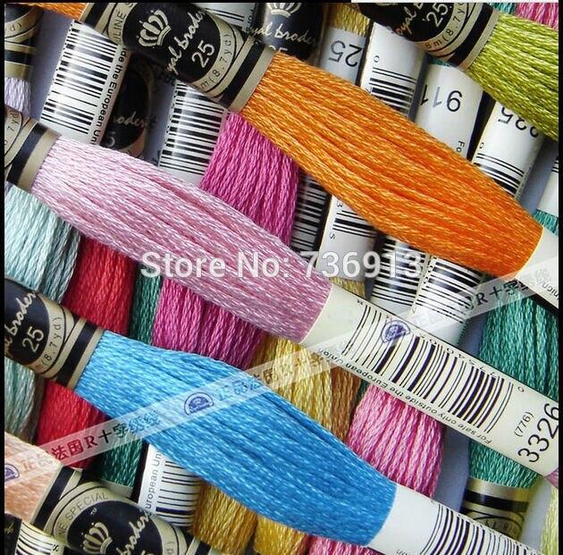 Wybierz dowolne kolory Royal nici w sumie 447 sztuk ściegiem krzyżykowym nici nici podobne DMC nici w Nici dentystyczne od Dom i ogród na  Grupa 3