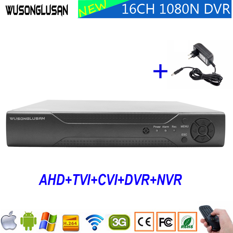 16CH AHD DVR Enregistreur Vidéo 1080 p 960 p 720 p 960 H Accueil CCTV Caméra Hi3521A 16 Canal 1080N 6 dans 1 Hybride Wifi XVI TVi CVI IP NVR