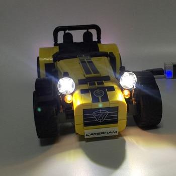 LED Light Kit (hanya cahaya termasuk) untuk lego 21307 dan 21008 teknik Ide ATERHAM TUJUH 620R Racin