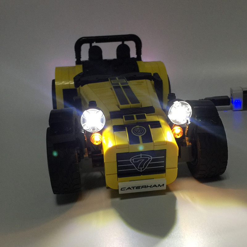 LED Light Kit (only light included) for lego 21307 and 21008 technic Ideas ATERHAM SEVEN 620R Racin