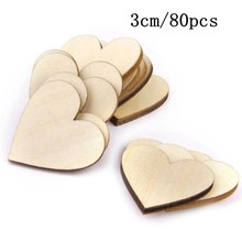 50pcs/lot Blank unfinished wooden heart crafts supplies laser cut rustic wood wedding rings ornaments 100mm 171132
