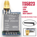TS5823 5.8G 200mW 32CH AV Transmitter Module (TX) Mini 7-24V for Phantom Multi-rotors Quadcopter RC FPV +