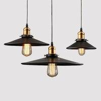 RH Loft Nave Industrial Luces Colgantes Lámparas de Iluminación de La Vendimia País de América para Restaurante/Dormitorio Decoración Del Hogar Negro