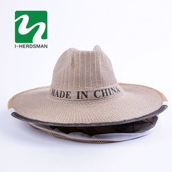 Beehive Beekeeping Cowboy Hat Mosquito Bee Insect Net Veil Head Face Protector Beekeeper Equipments