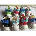 5 CM Causal Canvas Shoes 1/6 BJD Doll Shoes with Flower,BJD Snickers Mini Toy Boots,Fashion Doll Accessories 12 Pair/Lot
