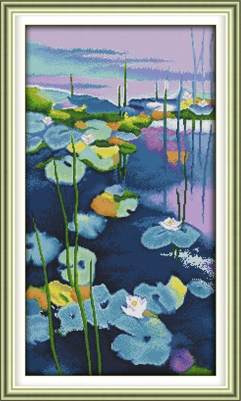 Water Lilies Cross Stitch