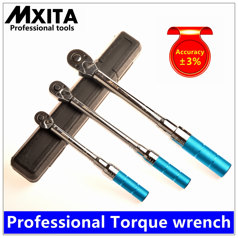 MXITA 1-400Nm Accuracy 3% High precision professional Adjustable Torque Wrench car Spanner  car Bicycle repair hand tools set mxita 1 2 5 60n adjustable torque wrench hand spanner car wrench tool hand tool set