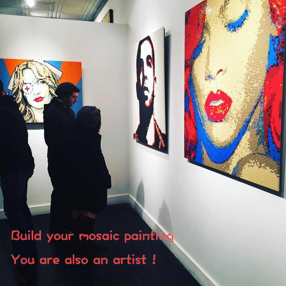 الإبداعية بكسل الفن فسيفساء اللوحة 4 قطعة من 5050 ترصيع