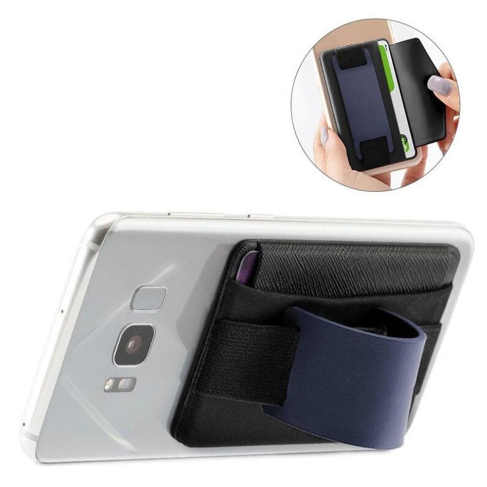 Belt Anti Slip Practical Wallet Phone Stand Tablet Sling Grip Pocket Elastic Leather Universal Safety Card Holder Finger